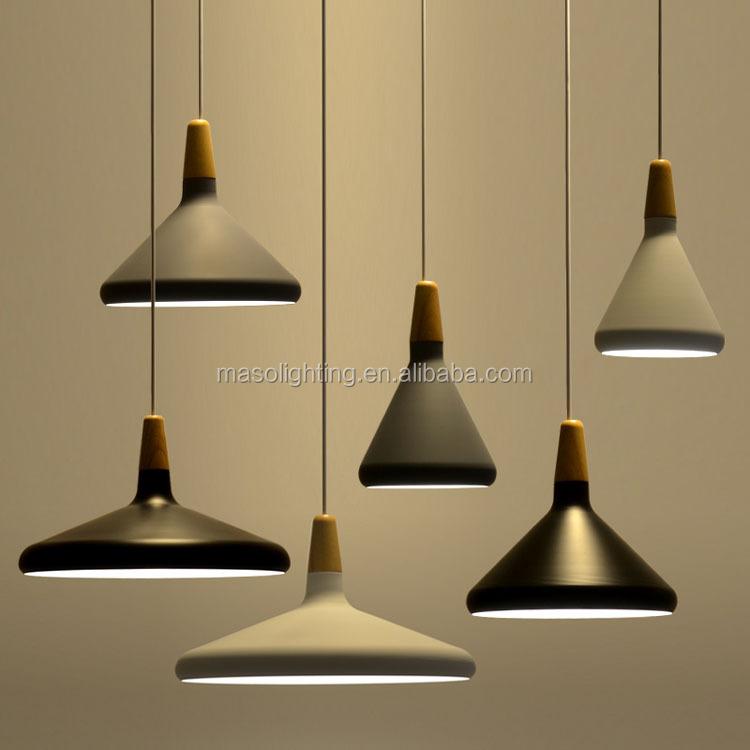 Nordic Modern Pendant Light Cone Shape Wooden Lamp Kitchen Dining Room Cafe Art Decorative Drop Fixture