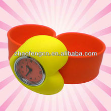 2012 Most popular promotional gift silicone slap watch