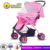 China Factory best lightweight foldable adjustable baby pink stroller ,baby pram for sale