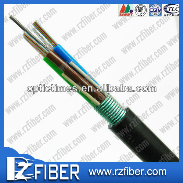 Light-armored Ribbon Fiber Optic Cable, GYDTS Ribbon Optical Fiber Cable