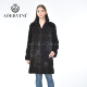 Fashion hot sell elegant suit collar long women coat mink fur
