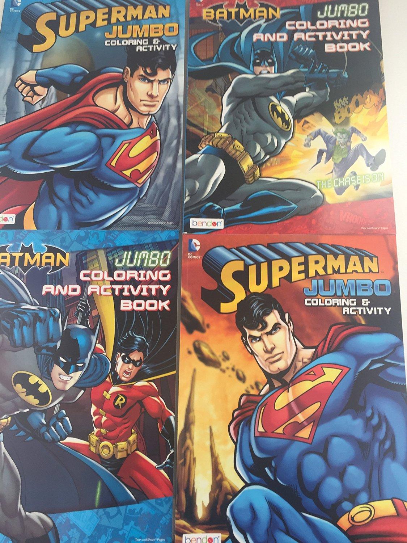 BUNDLE DC Comics Batman And Superman Activity Coloring Books Set Of 4