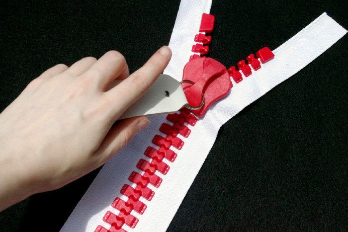 riesen rei verschluss in rot voll trennung jacke stil gro e breite geformt 30 rei verschluss. Black Bedroom Furniture Sets. Home Design Ideas