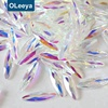Wholesale Over 40 Shapes Clear Bottom 3*11mm Horse Eye K9 Flatback Crystal AB Nail Art Stone supplier