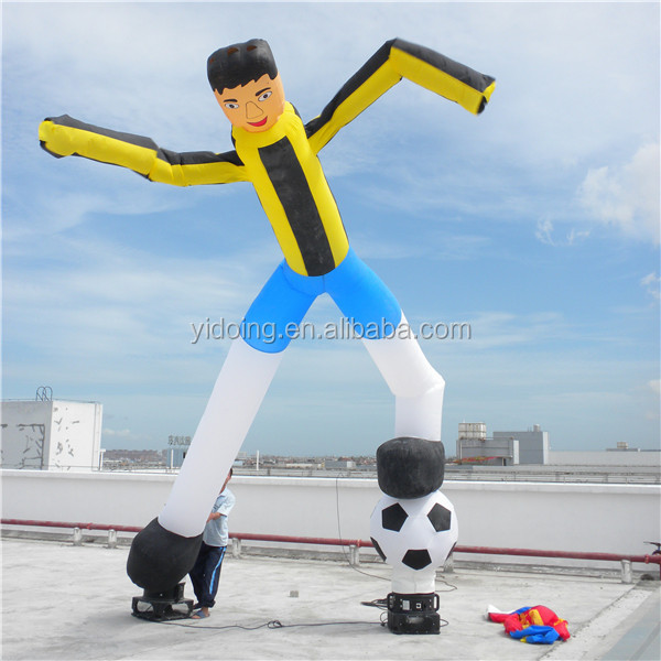 Football/soccer player sky dancer, inflatable flying balloon K1035