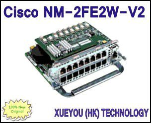 Cisco NM-2FE2W-V2 100% brand new original Cisco 2 port 10/100 Ethernet with 2 WAN Card Slot Network Module