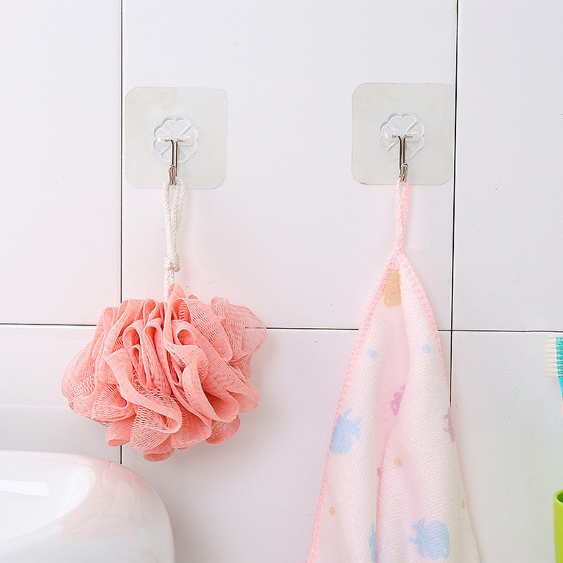 Strong Transparent Suction Cup Sucker Wall Hook Hanger For Kitchen Bathroom