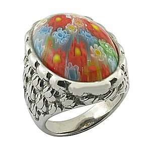 changeable stone multi-color western style men ring