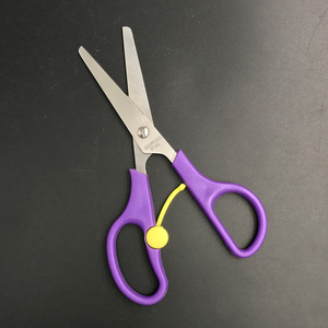 5.3-inch Blunt Tip Purple Plastic Handle Office Spring Scissors