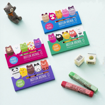 OEM cartoon expression convenient stickers creative finger N lovely animal shaped sticky note adhesive