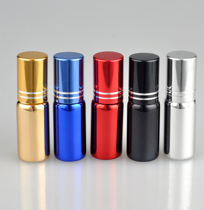 Y345 new 5ml glass roll bottle essential oil bottle with roll-on ball Spray perfume glass bottles фото