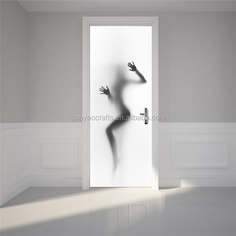 Tapete Wandaufkleber Tür Wandbild Aufkleber Sexy Frau Schatten ...