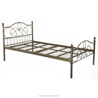 Extreme metal bed, bed frame with adjustable glides, sell well in US/EURO