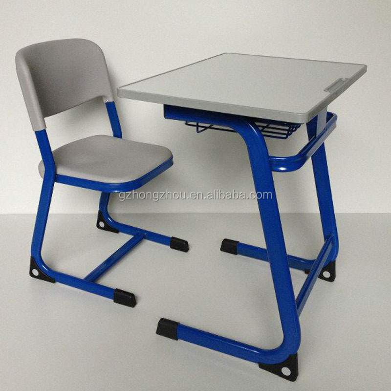 Durable Student Classroom Furniture Einzelner Schreibtisch Und Stuhl