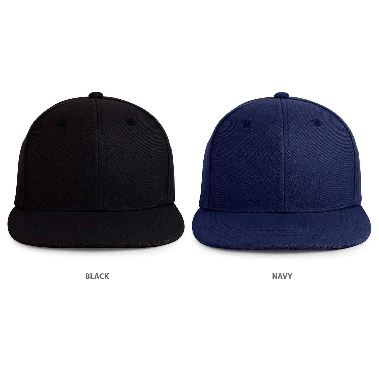 4204b8a99883e Get Quotations · Trendy Apparel Shop Infant to Toddler Kid s Plain  Structured Flatbill Snapback Cap