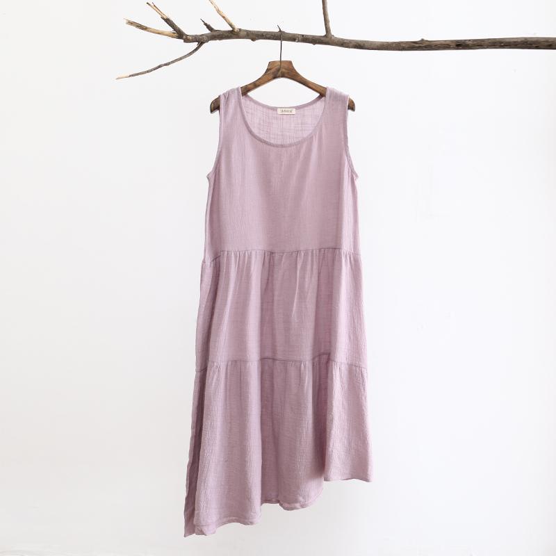 a2ee18cb86 Get Quotations · 2015 New Women Summer Long Dresses Plus Size Linen  Sleeveless Loose Dress Mori Girl Summer Style