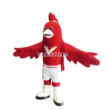 adult carnival mascot of the big red cock mascot costume