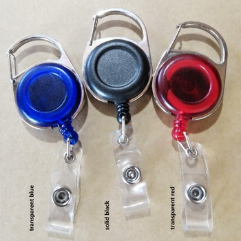 Customized Wholesale Retractable Plastic Yoyo Key Chain, Id Card Holder Badge Reel