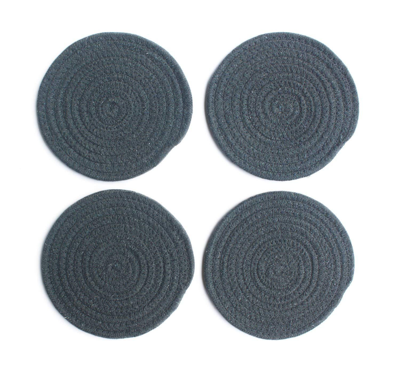 Buy 7 Quot Diameter Round Fabric Trivets Set Of 4 Woven Heat