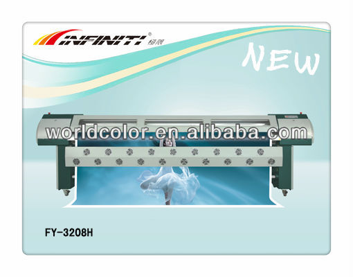 Advertising outdoor equippment Infiniti /Challenger large format plotter /solvent printer with 8 seiko 510/35pl head FY-3208HA