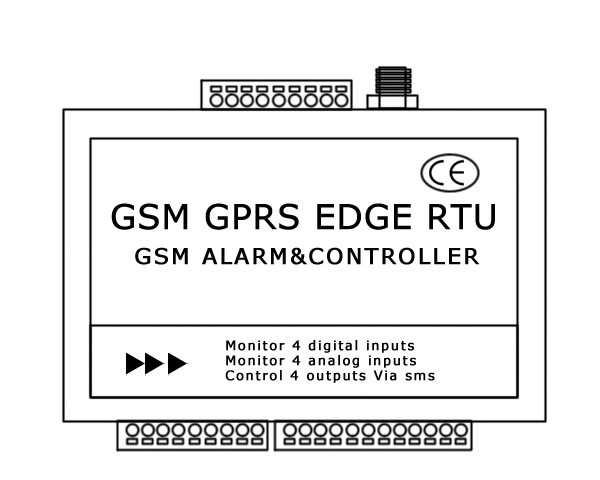GSM GPRS Data Logger with RS232 RS485 sms alert alarm