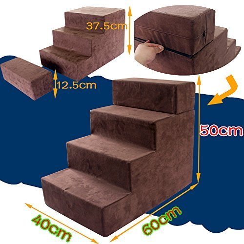 Get Quotations · I Sport 4 Step Portable Pet Stairs Pet Steps Pet Ramp Pet  Ladder For
