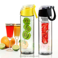 Multiple colors detox bottle sports plastic fashion fruit infusion water bottle
