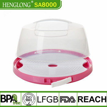 Jiangmen Henglong plastic Food Grade Cake Keeper Cake Container Plastic Cake Carrier