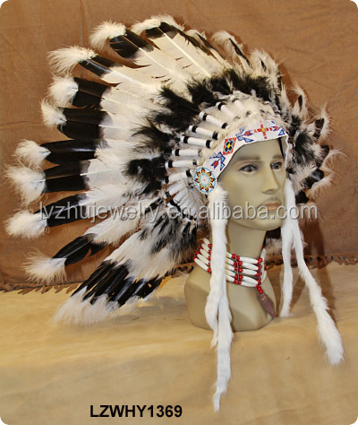 Native American Indian feather carnival headdress LZWHY1369