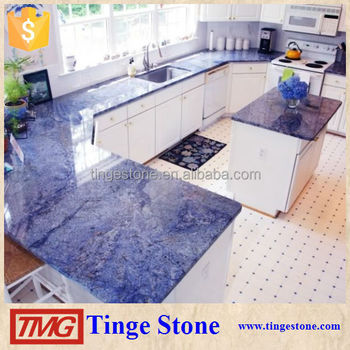 Natural Stone Azul Bahia Granite For Luxury Countertop Table Top