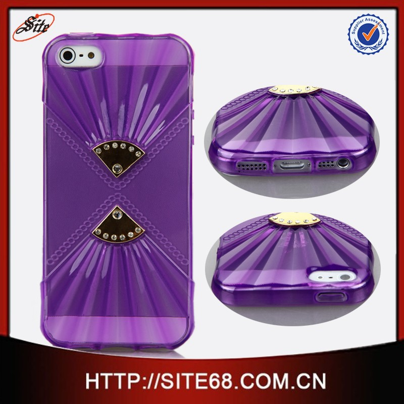 Alibaba China Supplier new design jeweled TPU beautiful mobile phone covers for <strong>Iphone</strong> <strong>4G</strong> with Factory price