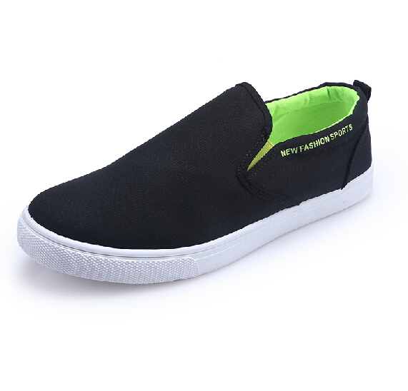 Men Loafers 2015 New Summer Solid Canvas Casual Breathable Moccasins Slip On Men Shoes Black Red Blue