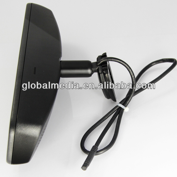 Hot-selling Good quality 4.3'' rear view mirror with gps with bulit-in bluetooth+auto-dimming+reverse display