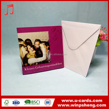 Hight quality paper card printing / 3 folding wedding invitation card designs