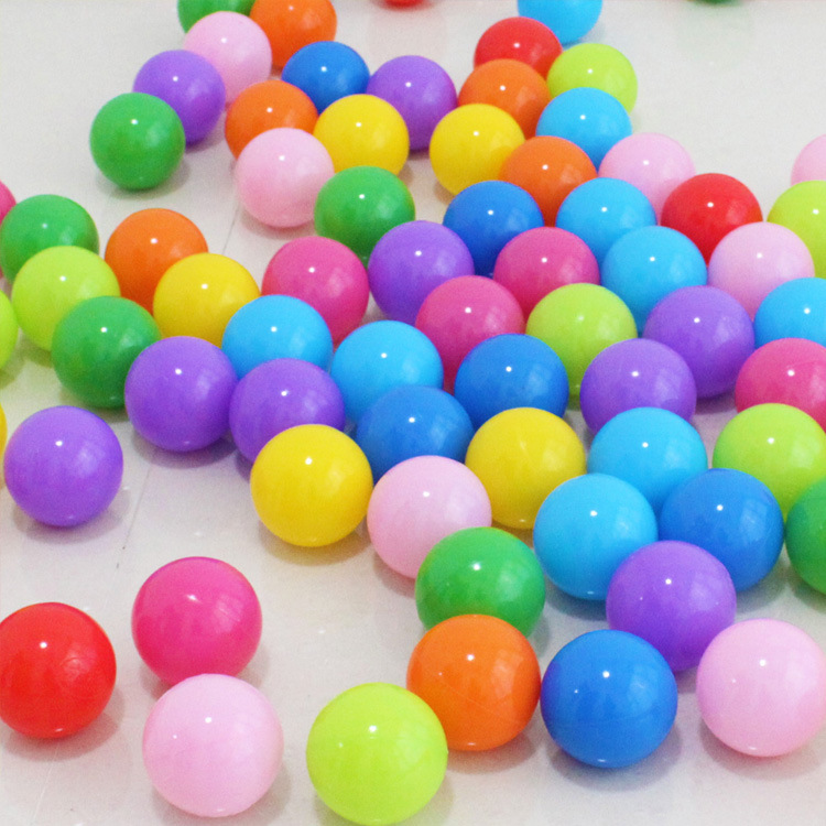 Hot selling indoor playground toys top quality 5cm thicker bobo <strong>ball</strong> 100 pcs wholesale mixed color offer kids play sea <strong>ball</strong>