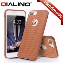 QIALINO design new Hot selling genuine leather cell phone case mobile phone case for iphone 7 and iphone 7 plus