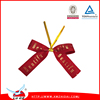 Pre-made Red Packaging Satin Ribbon Bows With Twist Ties for Gifts