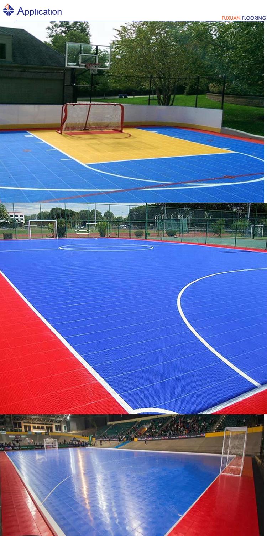 Modular interlocking used sports court indoor soccer flooring