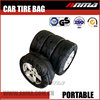Portable plastic spare tire bag cover