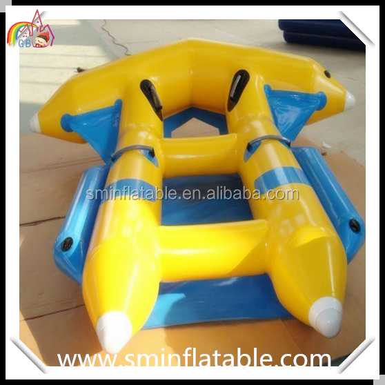Promotion inflatable flyfish, inflatable banana boat water games, inflatable flying towable tube for sport