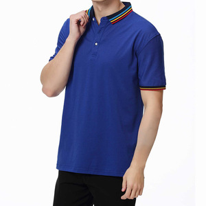 Guangzhou factory custom t shirt printing promotional pique golf men's polo shirt for men