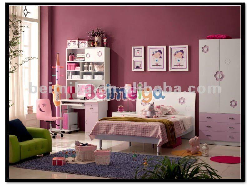 633 paars steen tiener slaapkamer sets slaapkamermeubilair kind meubels meisjes bed sgs test - Tiener slaapkamer kleur ...