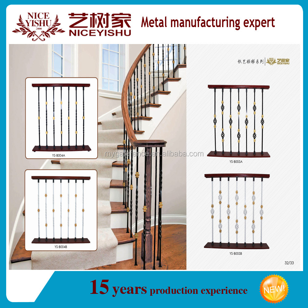 Used Wrought Iron Stair Railing,Cheap Balustrade On Sale