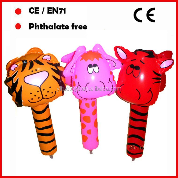 inflatable animal hammer toys for promotional