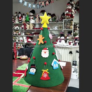 DIY Felt Christmas Tree Set with Ornaments for Kids 3 Feet Hanging Xmas Tree, Xmas Gifts Year Door Wall Hanging Decorations
