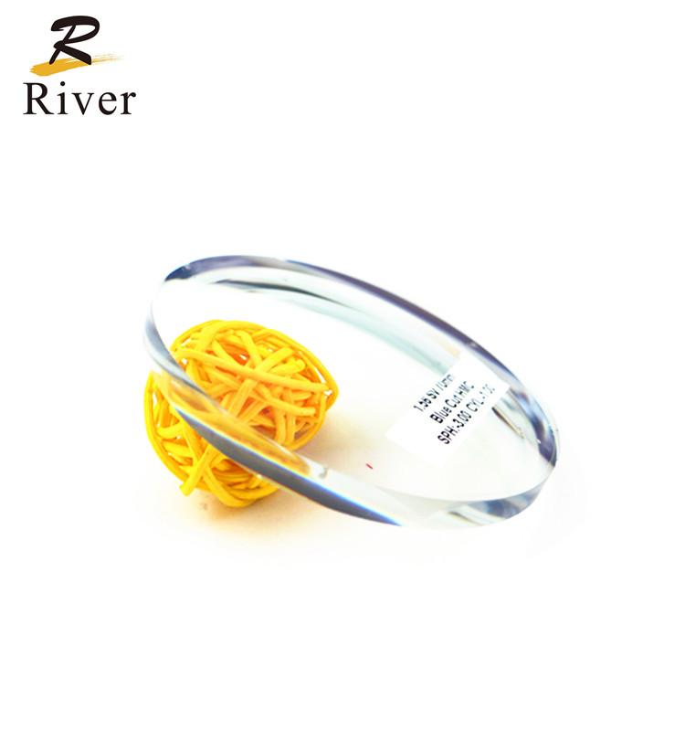 Sông Quang Học 156 Ống Kính Nhựa Màu Xanh Cắt Ống Kính Quang Học Lentes