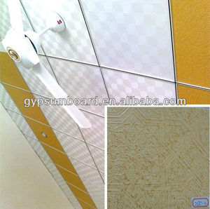 2x4 ceiling tiles/Gypsum ceilings with popular PVC/building materials