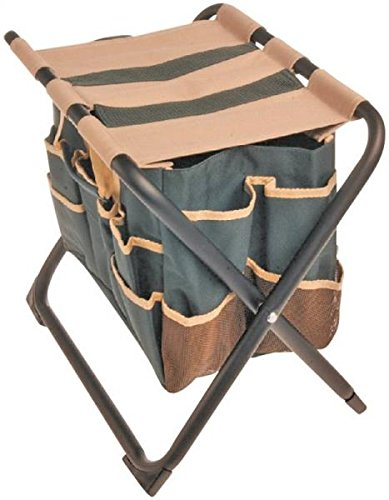 e5b20c1073c1 ... Stool with Detachable Canvas Bag - Holds up to 350 lbs - Perfect height  for weeding - Tote keeps tools close at hand - Heavy duty metal frame and  canvas