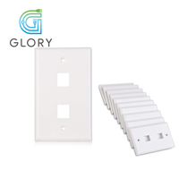 Glory 120 Type Wall Plate with 2 Port Keystone Jack RJ45 Face Plate
