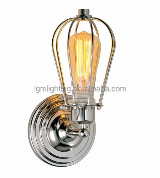 Classic retro iron wire indoor wall lamp